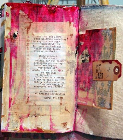 sketch book - scrapbook - scrapbooking