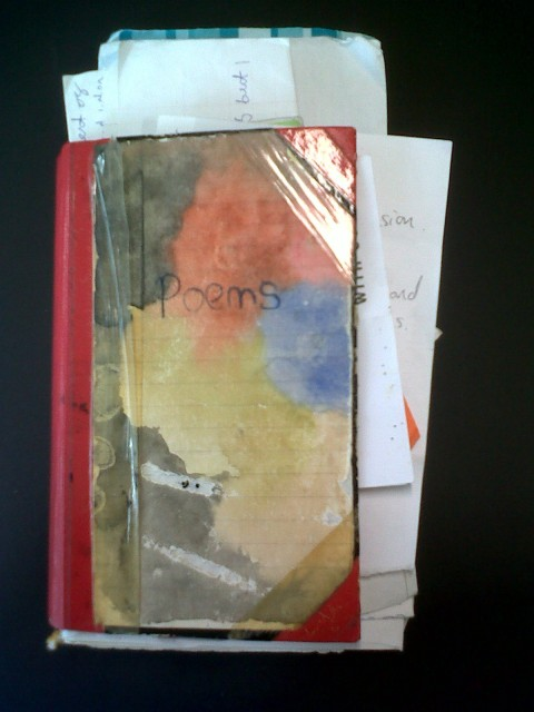 poetry book - old poems - old notebook
