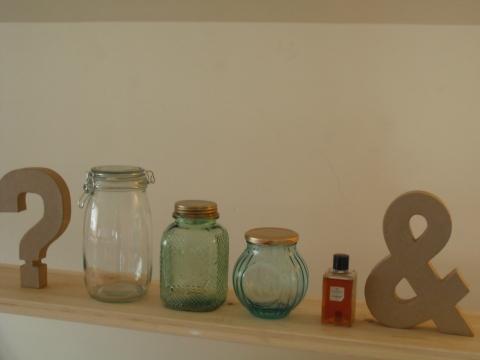 shelves - vintage jars