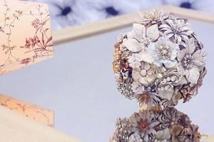 White vintage bouquet