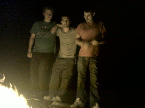 friends - bonfire - midnight walk