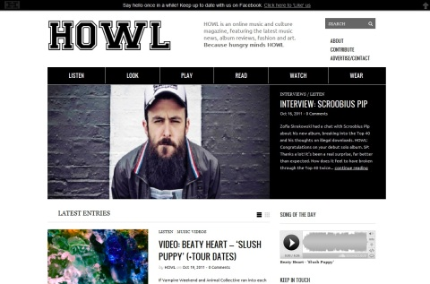 Howl - The Online Music & Culture Magazine