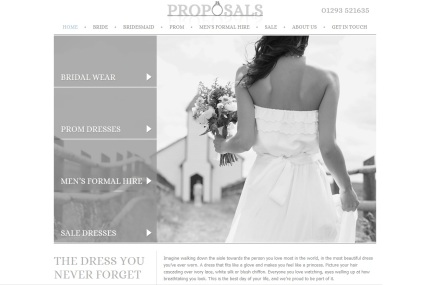 Proposals Bridalwear Shop in Crawley, West Sussex