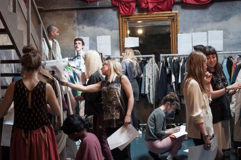 Brighton Fashion Graduates Backstage 2012
