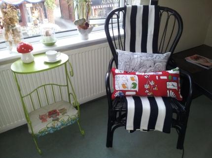 Black rattan Ikea chair