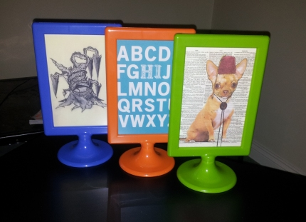 Coloured frames from Ikea - Cute postcards