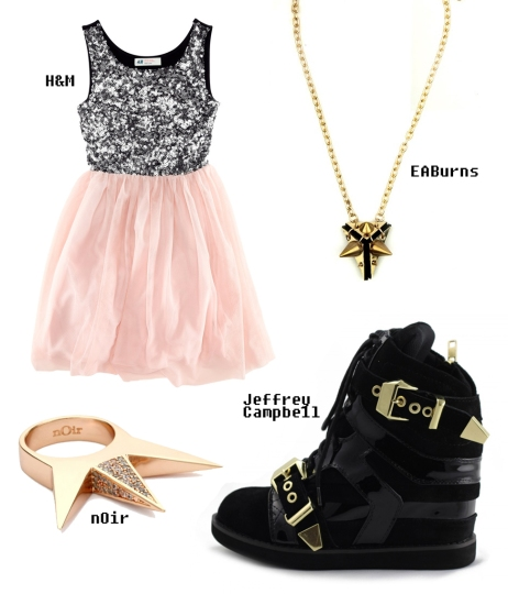 Styling up a pretty party dress
