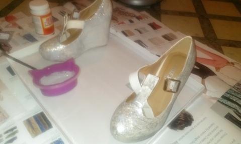 DIY glitter Mary Janes