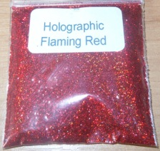 Holographic red glitter