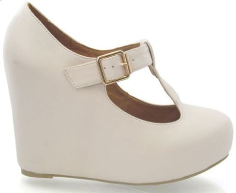 Wedge Mary Janes