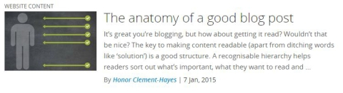 The anatomy of a blog post