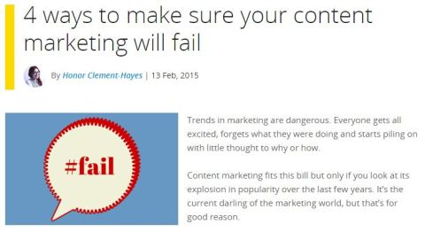 4 ways to make sure your content marketing will fail