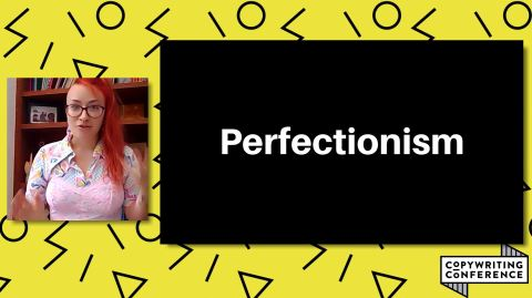Honor is presenting a talk about perfectionism